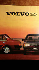 Prospekt Brochure 1984 Volvo 360