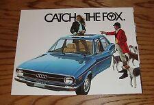 Original 1974 Audi Fox Sales Brochure 74