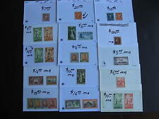 NEW ZEALAND old better value stamps assembled in sales cards, have a look!