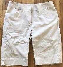 CUTTER & BUCK beige khaki cotton stretchy walking shorts Sz 10 Medium M