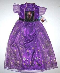 Nwt New Disney Princess Frozen II 2 Anna Nightgown Pajamas Costume Glitter Girl