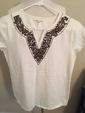 (W22) Women's Coldwater Creek Small Short Sleeve Top