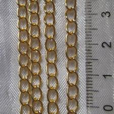 Lot de 2m chaine de rajout maillon 3,5mmx5,5mm métal doré collier bracelets*O157