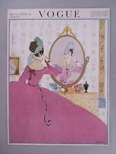 Vogue Magazine - February 15, 1918 - FRONT COVER ONLY ~~ Helen Dryden art