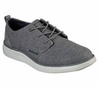 Mesh Casual Skechers Shoes Gray Men Memory Foam Comfort Soft Woven Oxford 65900