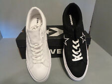 Men's CONVERSE One Star Ox Black/ White Canvas Low Top Shoes NIB!* New! Sizes!