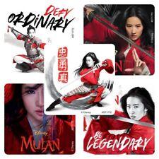 Mulan Stickers x 5 - Birthday Party Favours Loot Supplies Mulan Princess Movie