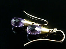 Amethyst Yellow Gold Earrings Victorian Fine Jewellery