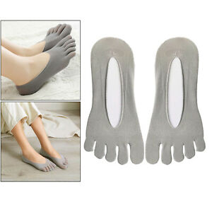 1Pair Women Five Finger Toe Socks No Show Invisible Socks Slippers Hosiery