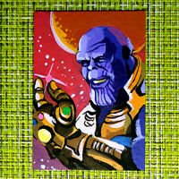 Thanos original painting 1/1 signed sketch card