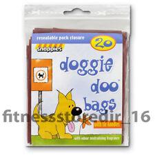 Snappies Dog Doggie Doo Poo Poop Pet Waste Bags Odour Neutralising & Tie Handles