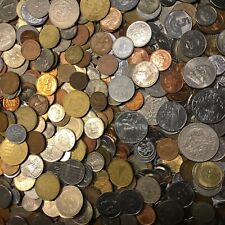 Huge Mixed Bulk Lot of 100 Assorted World Foreign Coins Great Variety * W/ Bonus