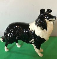 BESWICK DOG SHEEPDOG MODEL 1792 BLACK & WHITE GLOSS LARGE PERFECT