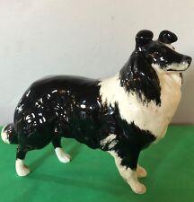 BESWICK DOG SHEEPDOG MODEL 1792 BLACK & WHITE GLOSS LARGE PERFECT