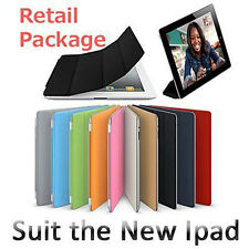Black Slim Flip Folding Foldable Magnetic Smart Case Cover for iPad 2 New iPad 3