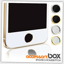 HOME BUTTON KNOPF IN IPHONE 5S LOOK OPTIK STYLE FÜR IPHONE 5 SCHWARZ/GOLD