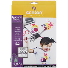Canson Digital A4 Inkjet T Shirt Transfer Paper 10pk. Perfect for Printing Art.