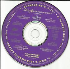 LIVING COLOUR Glamour Boys w/ 2 RARE LIVE TRX PROMO DJ CD single ROLLING STONES