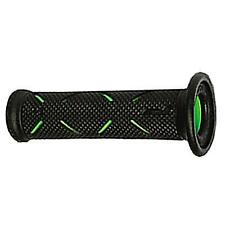 Pro Grip 717 Superbike Soft Open End Motorcycle Grips Black / Green 0630-0216