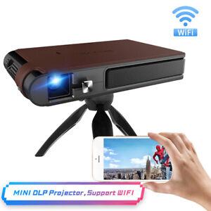 HD DLP Smart Wi-Fi Projektor 3D Movie Video Spiegel Screening Meeting USB 1080p
