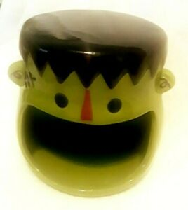 NEW Halloween Frankenstein Open Mouth Candy Dish Serving Bowl