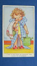 Vintage Comic Postcard 1936 Dentist Orthodontist Toothbrush Toothpaste Theme