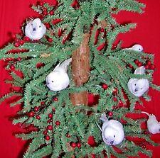 "NEW 68"" SNOW WHITE SPARKLING BIRDS GARLAND DECOR CHRISTMAS HOLIDAY TREE WEDDING"