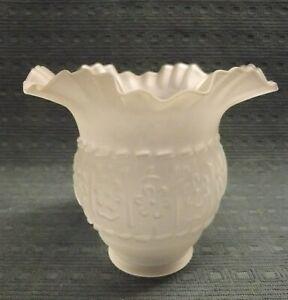 Lampenschirm in Form einer Blüte Satiniertes Glas Jugenstil / Art Deco