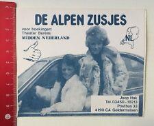 Aufkleber/Sticker: De Alpen Zusjes - Midden Nederland (210316122)