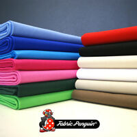 "100% Cotton Canvas Fabric - Plain Colour - 60"" 150cm Wide - White Black Green"