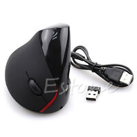 USB Wireless Vertical Ergonomic Wrist Healing Optical Mouse For PC Laptop MAC