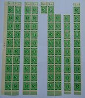 5 Bogenteile Gemeinschaftsausg. I. Kontrollratsausgabe 1946, 5 Pf, Mi 915, OR