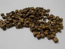 300pcs 4mm WOODEN Cube Square Spacer Wood Beads BROWN ( Australian Seller )