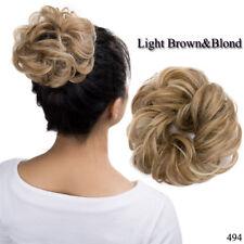 Curly Messy Bun Hair Piece Scrunchie Chignon Hair Extensions Real as human USA