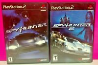 Spy Hunter 1 + 2   - PS2 Playstation 2 Tested Game Lot Working Midway Spyhunter