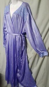 "Amoureuse Purple Robe Vintage Style Long 4X 5X 64 "" Bust"