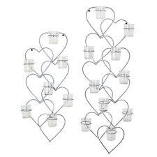 Deko-Kerzenständer & -Teelichthalter aus Metall mit Herz für Wohnzimmer