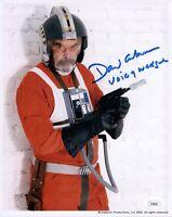 DAVID ANKRUM Signed VOICE OF WEDGE STAR WARS 8x10 Photo Autograph JSA COA Cert