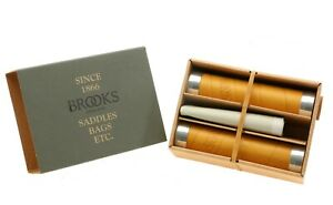 Brooks Slender Leather Grips 130mm Ochre Bike Grips Pair Yellow Italy NEW in Box