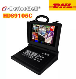 """DeviceWell HDS9105C Video Switcher 11.6"""" Monitor 4 HDMI Live Stream Broadcasts"""