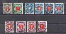 DANZIG 1924 197aa,199b etc geprüfte FARBEN Mi250€(A2702