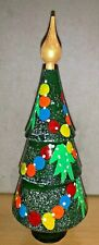 "Russian 7"" Christmas Tree Matryoshka Nesting Doll 3 pcs Hand Painted Souvenir"