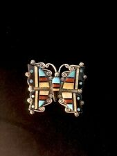 Authentic Zuni Herbert & Esther Cellicion Butterfly Pendant #687