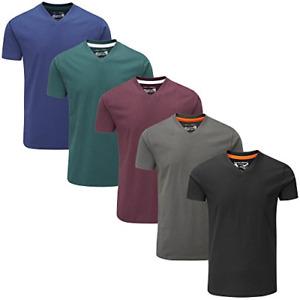 Charles Wilson 5 Pack Plain V-Neck T-Shirt X-Large, Dark Essentials Type 41