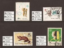 CHINA PRC 1982 Collection of 4 Good / Fine Used (JB9012)