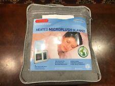 Biddeford Micro Plush Electric Heated Warming Blanket Full Size w/ Digital Contr