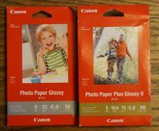 Canon PP-301 4x6 Photo Paper Plus Glossy II 100 Shts Per Box, GP-701 50 Shts NEW