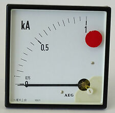 AEG KA analogique-Appareil de mesure installation instrument kilos soluciones mètres 1000/1 380v 90mm x90mm