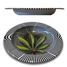 Weed Cannabis Marijuana Hypnotic Metal Cigarette Cigar Ashtray