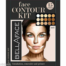 15 Colors Concealer Palette Kit with Brush Face Makeup Contour Cream, Palette #1